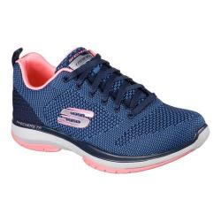 Women's Skechers Burst TR Close Knit Trainer NavyCoral | Shopping The Best Deals on Athletic