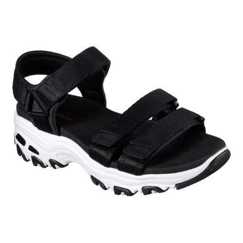 97aa6aef571c Shop Women s Skechers D Lites Fresh Catch Ankle Strap Sandal Black - On Sale  - Free Shipping On Orders Over  45 - Overstock - 14810532