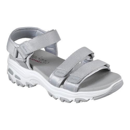 Shop Women S Skechers D Lites Fresh Catch Ankle Strap