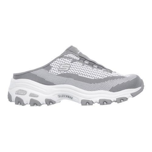 Skechers D'Lites A New Leaf Womens Slip On Sneaker Clogs Gray/White 6.5 ECRMmOQtA5