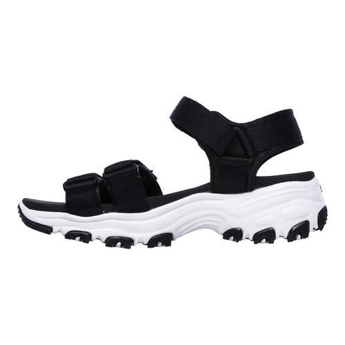 ae1ca7cec223 Shop Women s Skechers D Lites Fresh Catch Ankle Strap Sandal Black - On Sale  - Free Shipping On Orders Over  45 - Overstock - 14810532