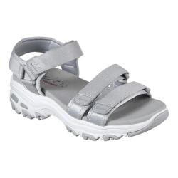 Women's Skechers D'Lites Fresh Catch Ankle Strap Sandal Gray - Thumbnail ...