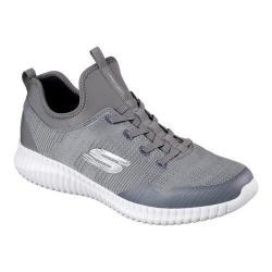 Men's Skechers Elite Flex Lasker Bungee Lace Shoe Gray