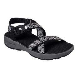 Men's Skechers Melbo Ankle Strap Sport Sandal Black/Gray