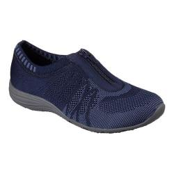 Women's Skechers Unity Transcend Zip-Up Sneaker Navy/Blue