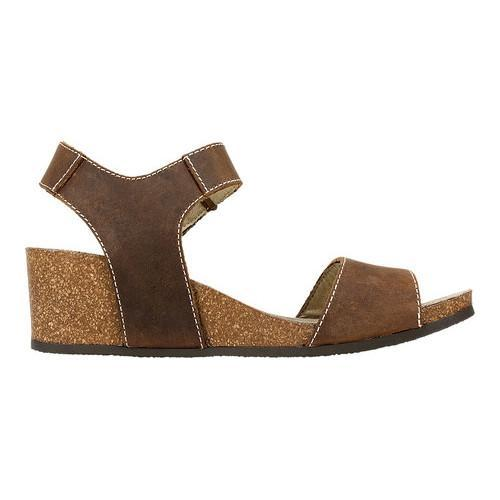 Shop Women S White Mountain Haines Cork Wedge Sandal Brown