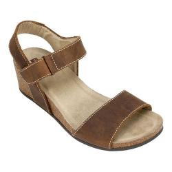 Women's White Mountain Haines Cork Wedge Sandal Brown Leather