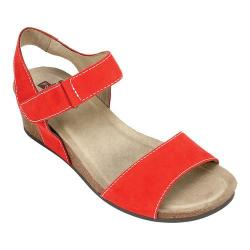 Women's White Mountain Haines Cork Wedge Sandal Red Leather