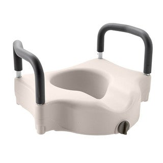 Medline Raised Toilet Seat with Lock and Arms