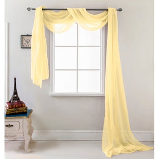 RT Designers Collection Celine 216 inch Sheer Curtain Scarf (Option: Gold)