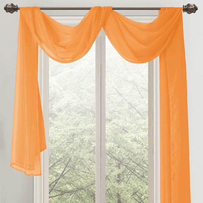 RT Designers Collection Celine 216 Inch Sheer Curtain Scarf (Option: Neon  Orange)