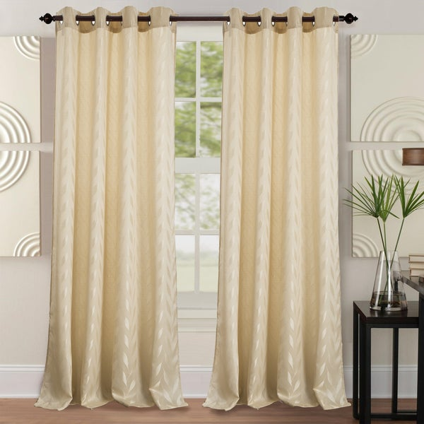 RT Designers Collection Napa Jacquard 84-inch Grommet Curtain Panel - 54 x 84 in.
