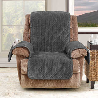 Sure Fit Wide Wale Corduroy Recliner Throw Furniture Protector (5 options available)