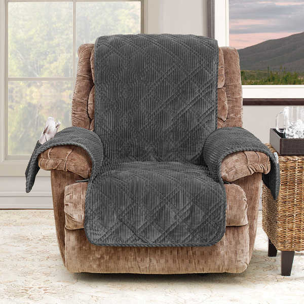 Sure Fit Wide Wale Corduroy Recliner Throw Furniture Protector