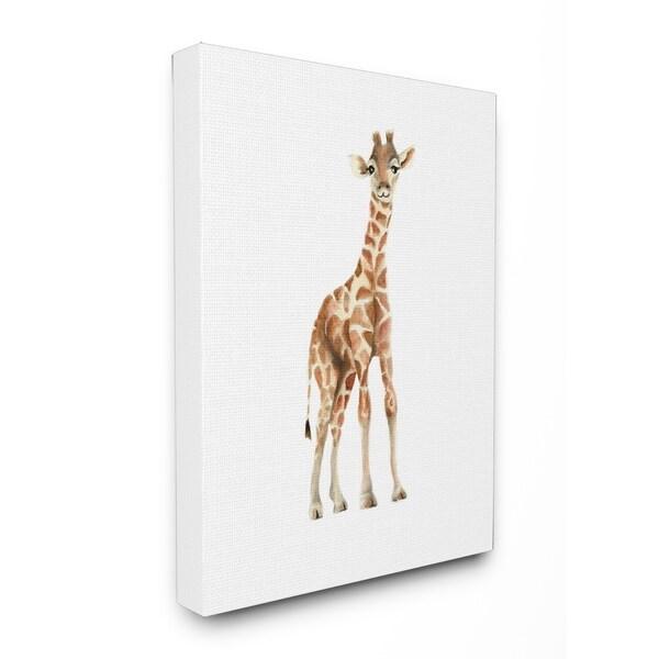 Stupell Industries Hy Baby Giraffe Canvas Wall Art