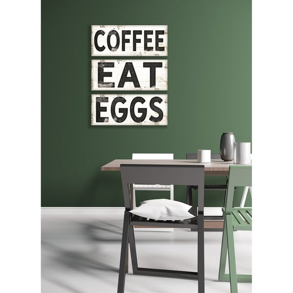 Stupell Industries EGGS Vintage Sign Canvas Wall Art