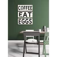 Stupell Industries EAT Vintage Sign Canvas Wall Art