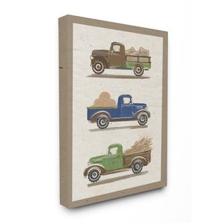 Stupell Industries Vintage Tractor Canvas Wall Art