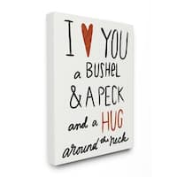 Stupell Industries Bushel and a Peck Canvas Wall Art