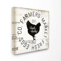 Stupell Industries Fresh Egg Co Vintage Sign Canvas Wall Art
