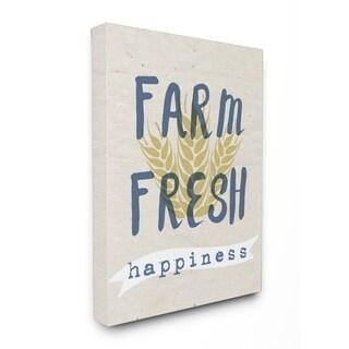 Stupell Industries Farm Fresh Wheat Canvas Wall Art