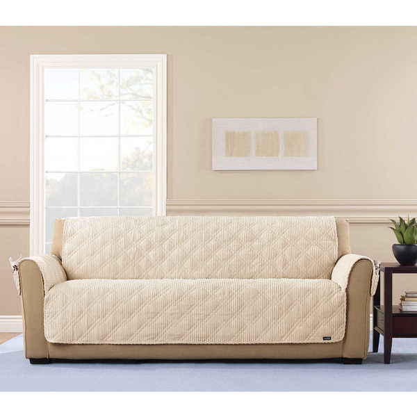 Sure Fit Wide Wale Corduroy Sofa Throw Furniture Protector   Free Shipping  Today   Overstock.com   23908981