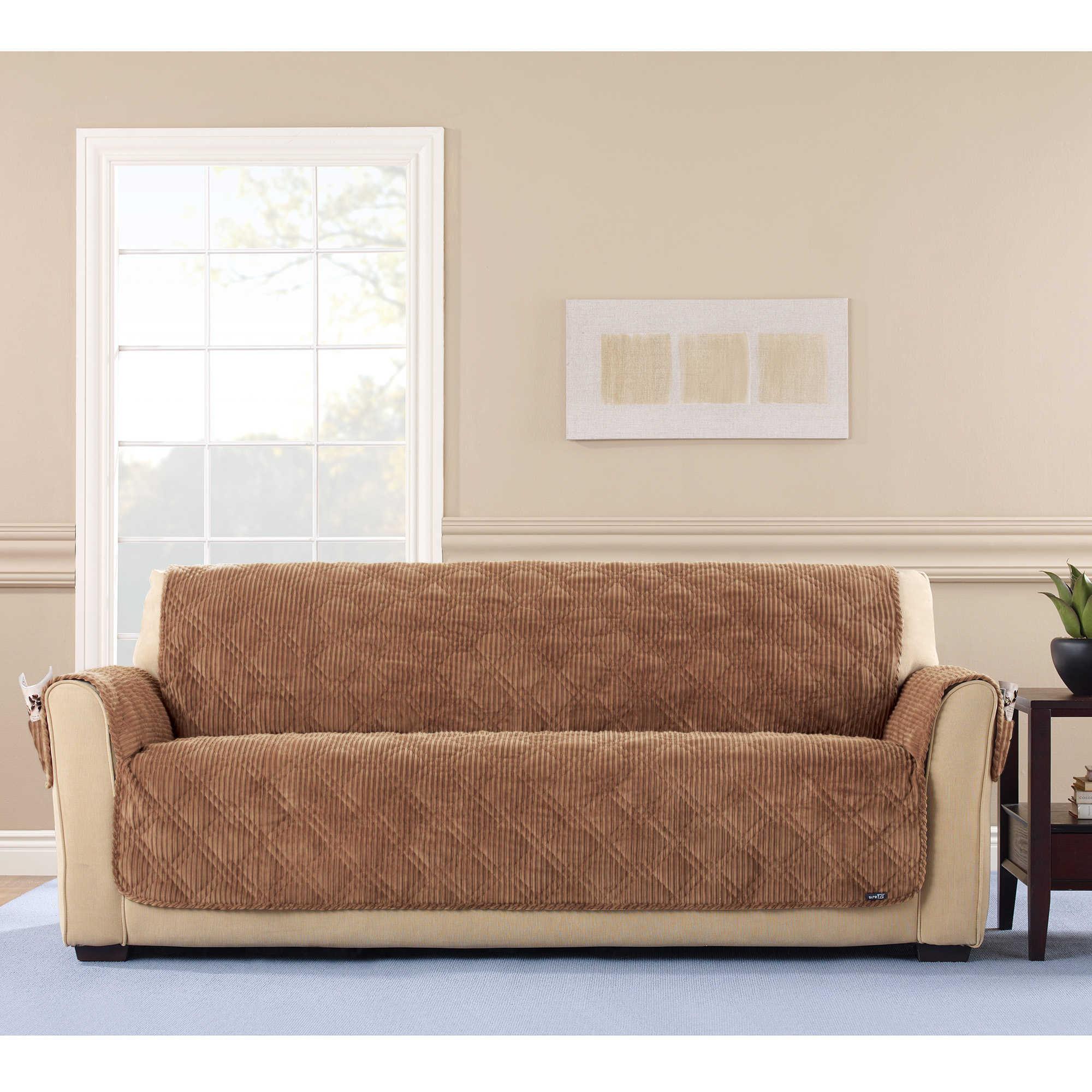 Shop Sure Fit Wide Wale Corduroy Sofa Furniture Protector
