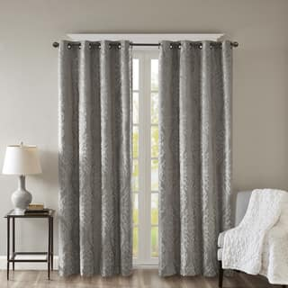SunSmart Elysia Knitted Jacquard Total Blackout Grommet Window Curtain Panel|https://ak1.ostkcdn.com/images/products/17703103/P23909103.jpg?impolicy=medium