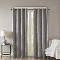 Clay Alder Home Sugar Creek Knitted Jacquard Total Blackout Grommet Window Curtain Panel