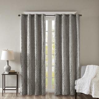 sunsmart elysia knitted jacquard total blackout grommet window curtain panel