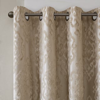 SunSmart Elysia Knitted Jacquard Total Blackout Grommet Window Curtain Panel (3 options available)