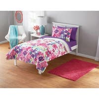 Watercolor Floral 3-piece Comforter Set