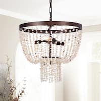 Teriz 3-Light 16-Inch Stone and Metal Pendant