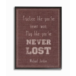 Stupell Industries Play Like You Never Lost Framed Giclee Art
