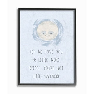 Stupell Industries Love You a Little More Framed Giclee Art