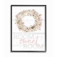 Stupell Industries Room Sweet Room Wreath Framed Giclee Art