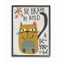 Stupell Industries Be Beautiful Kitty Framed Giclee Art