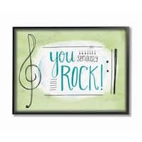 Stupell Industries You Seriously Rock Framed Giclee Art