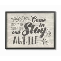 Stupell Industries Come In Stay Awhile Framed Giclee Art