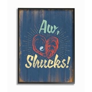 Stupell Industries Aw Shucks Oyster Framed Giclee Art