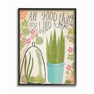 Stupell Industries Good Things Are Wild Framed Giclee Art