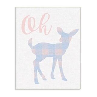 Stupell Industries Oh Deer Plaid Cutout Wall Plaque Art