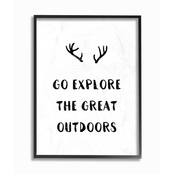 Stupell Industries Go Explore Outdoors Framed Giclee Art