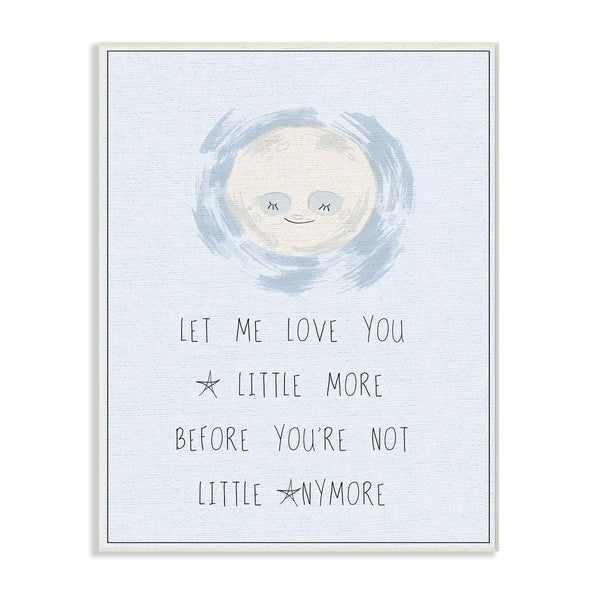 Stupell Industries Love You a Little More Blue Moon Wall Plaque Art