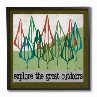 Stupell Industries Explore The Great Outdoors Framed Giclee Art