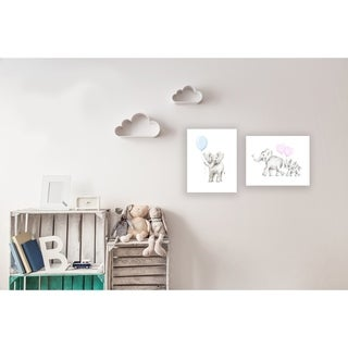 Stupell Industries Baby Elephant with Blue Balloon Wall Plaque Art