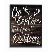 Stupell Industries Go Explore Outdoors Framed Giclee Art