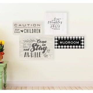 Stupell Industries Come In Stay Awhile Wall Plaque Art