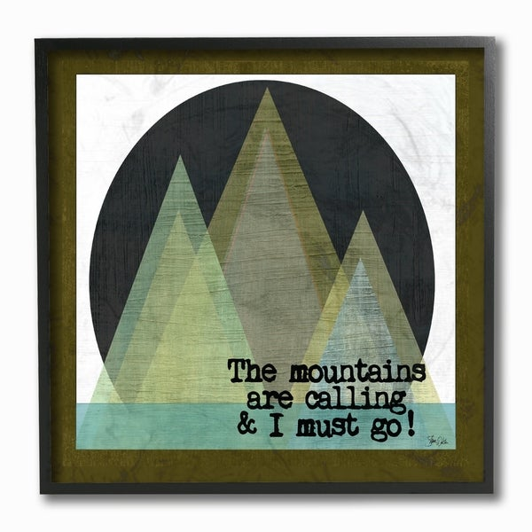 Stupell Industries The Mountains Are Calling Framed Giclee Art