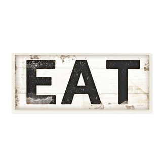 The Gray Barn Jartop EAT Typography Vintage Sign Wall Plaque Art